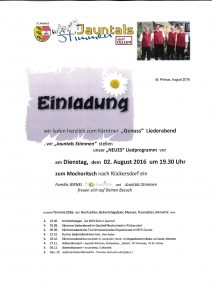 """Jauntals Stimmen - """"Genuss"""" Liederabend @ Rückersdorf: Gasthof Mochoritsch"""