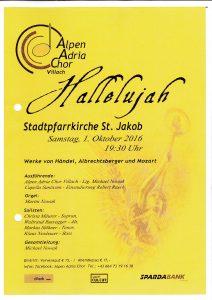Alpen Adria Chor Villach - Hallelujah @ Villach St. Jakob: Stadtpfarrkirche | Villach | Kärnten | Österreich