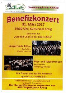 Sängerrunde Pöllau - Benefizkonzert @ Kraig: Kultursaal   Kraig   Kärnten   Österreich