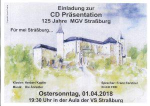 MGV Straßburg - CD Präsentation @ Straßburg: Aula der Volksschule | Straßburg | Kärnten | Austria