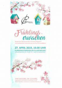 "CHORisma - Konzert ""Frühlingserwachen"" @ Klagenfurt: Europagymnasium"