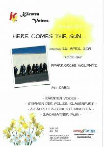 """Kärnten Voices - Konzert """"Here comes the sun"""" @ Wölfnitz: Pfarrkiche"""