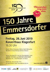 150 Jahre Sängerrunde Klagenfurt-Emmersdorf - Jubiläumskonzert @ Klagenfurt: Konzerthaus