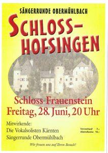 Sängerrunde Obermühlbach - Schloss-Hofsingen @ Schloss Frauenstein