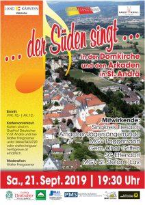 "Sängergau Lavanttal - ""... der Süden singt ..."" @ St. Andrä/Lav.: Domkirche - Arkaden"