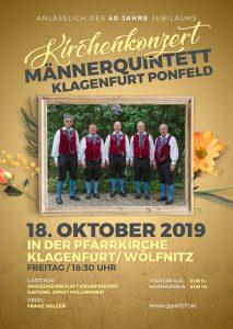 Männerqunitett Klagenfurt-Ponfeld - Kirchenkonzert @ Klagenfurt/Wölfnitz: Wöflnitz