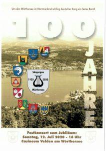"""ABGESAGT - Sängergau Wörthersee - 100 Jahr Jubiläum - Festkonzert """"Musikalische Perle vom Wörthersee"""" @ Velden: Casineum"""