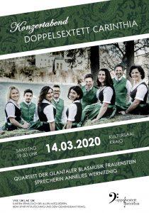 Doppelsextett Carinthia - Konzertabend @ Kraig: Kultursaal
