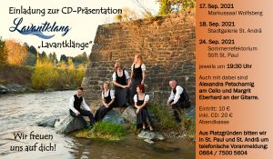 """Lavantklang - CD Präsentation """"Lavantklänge"""" @ St. Paul: Stift - Sommerrefektorium"""